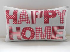HAPPY HOME - applique cushion  £27.50
