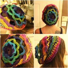 I started with the Chakra Hat Pattern and then we wayyyyyyyy off on my own tangent. It was so fun to make!