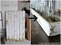 Repurpose old fence: Make a wood Tray DIY - Cleverly Inspired