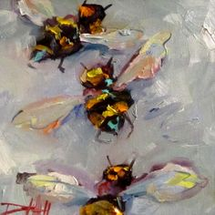 Bee's Knees No.5, painting by artist Delilah Smith