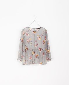ZARA - TRF - PRINTED TOP WITH BUTTONS AT THE BACK