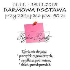 agnieszkapasjonata: Darmowa wysyłka w Przydasiowie