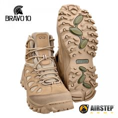 Hiking Boot Bravo10 TAN - Airstep 100% Brazilian made with leather And cordura©
