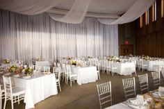 indoor setting.  like the draping-  ceiling color drapes match paint color