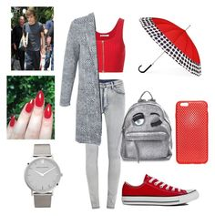 """""""Day with LIAM <3"""" by nikasopkovicova2 on Polyvore featuring Cheap Monday, T By Alexander Wang, Miss Selfridge, Converse, Chiara Ferragni, ShedRain, AndMesh and Larsson & Jennings"""