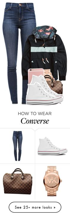 """"" by tonibalogni on Polyvore featuring J Brand, Michael Kors, Louis Vuitton and Converse"