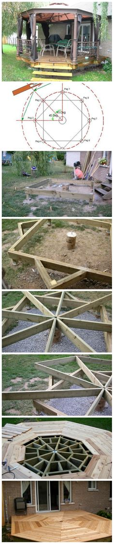 Octagon deck building plans ignore the starks spring is for How to build an octagon deck