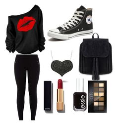 """""""Tomboy"""" by obey-the-myla on Polyvore featuring Converse, Amorium, Chanel, Essie, Maybelline, women's clothing, women's fashion, women, female and woman"""