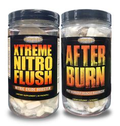 Xtreme Nitro Flush & After-Burn - Anabolic Stack Pak Combo Muscle Building, Build Muscle, Burns, Pump, Training, Workout, Hot, Bodybuilder, Gain Muscle
