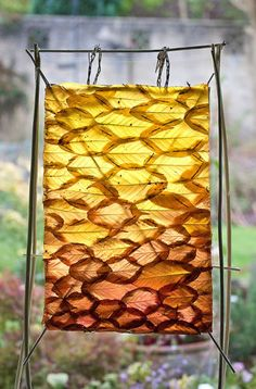Cherry Leaf Curtain by Richard Shilling-Land artist