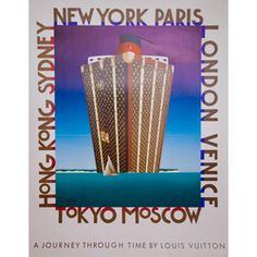 Louis Vuitton Normandy. Original vintage poster archivally linen backed and hand signed by the artist.