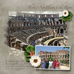 Colosseum Background paper from Fly Free by Ziggle Designs Large leaves from Now Showing by SO Designers Small leaves from Your Roots are Showing by Bella Gypsy Orange flower by 68 White flower from Shades of Adventure by Happy Scrap Girl Template by Studio Rosey Posey #bigpicture #team