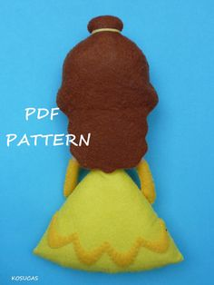 PDF sewing pattern to make felt Beauty. by Kosucas on Etsy