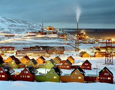 Longyearbyen, Norway the northernmost town in the world.