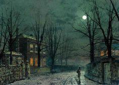 Impresionismo nocturno del 1800 por el inglés John Atkinson Grimshaw.