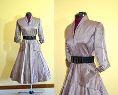 1950s Vintage Pink and Black Diamond Full by TabbysVintageShop