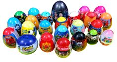 Many Surprise Eggs One Direction Sonic SpongeBob Cars Spiderman Angry Bi...