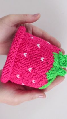 Knit a Strawberry Hat