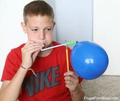 Make a Balloon Pinwheel Science Demonstration
