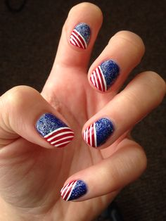 Forth of July 2014 Nails Get Nails, How To Do Nails, Hair And Nails, Fingernail Designs, New Nail Designs, Mani Pedi, Manicure, Cnd Shellac, Holiday Nails