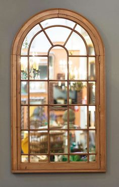 Pair of Large Georgian Arched Window Pane Mirrors (Priced Individually) | From a unique collection of antique and modern wall mirrors at https://www.1stdibs.com/furniture/mirrors/wall-mirrors/