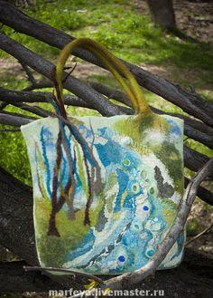 Tas in bijzondere tinten. Ik zie er een mooi landschap in, een beetje abstract en toch herkenbaar. Bijzonder!