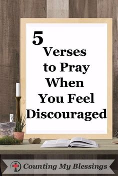 5 Verses to Pray the You Feel #Discouraged - THE BATTLE IS REAL! The enemy is working overtime to discourage and silence God's children. Let's #pray!