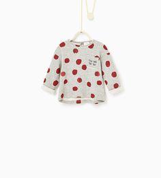Image 1 de Sweat à pois et paillettes de Zara