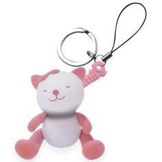 "Giimmo Key Ring night light - Rose the Cat - $16.95 - It appears the old adage is true!  Good things do come in small packages and little miss Rosie the Cat key ring is proof of that!  The newest addition to the Giimmo range, the ""ching bling"" key ring is the funkiest accessory around!  Now Giimmo can keep your little one entertained for hours - even while away from the bedroom! #littlebooteek #girl #gifts #giimmo"