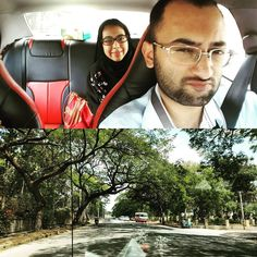 On the road with a #selfie for a day trip of Mysore. #YHGoes2IN #India - May 24 2016 at 11:08AM