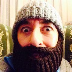 Gorro barba a ganchillo