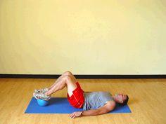 Today's Exercise: Bridges on Medicine Ball