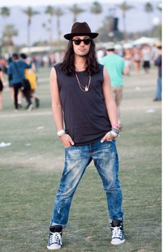 coachella mens fashion sleeveless