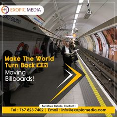 Place your ads on transports like cabs, bus, rail, and their respective shelters. Maximum attention, brand engagement and revenue generation guaranteed starts with us! Contact us today. Call us: 7678237402 #ExopicMedia #turnback #world #billboards #ads #transports #cabs #bus #rail #brandengagement #revenuegeneration #roi #transitmedia #advertising #advertisingagency #transitmediaadvertising #marketingagency #advertisingcompany