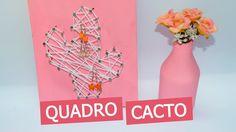 QUADRO CACTO STRING ART - DIY - Decorando em 1 minuto #3