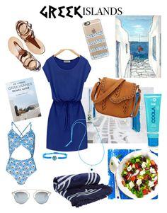 """Senza titolo #5335"" by waikiki24 on Polyvore featuring moda, Casetify, The Beach People, Elena Votsi, Christian Dior, COOLA Suncare, Packandgo e greekislands"
