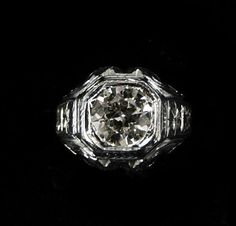 ANTIQUE DIAMOND RING by HPSJEWELERS on Etsy