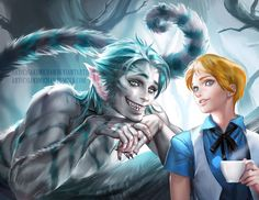 You guys have spoken !  My version of Male Alice and Humanoid Cheshirecat from aliceinwonderland. I
