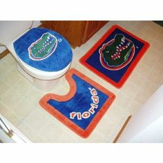 Florida Gators 3 Piece Bath Rugs By Championship Home Accessories 43 02 Dimensions