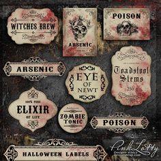 De belles étiquettes vintage et sanglantes #halloween