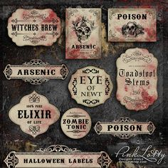 Deviant Scrap :: What's New :: Halloween Labels