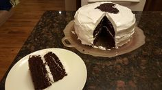 BEST EVER CHOCOLATE CAKE with FLUFFY FROSTING
