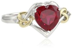 XPY Sterling Silver and 14k Yellow Gold Diamond and Heart-Shaped Created Ruby Ring (0.03 cttw, I-J Color, I3 Clarity) Amazon Curated Collection, http://www.amazon.com/dp/B0043RTQK6/ref=cm_sw_r_pi_dp_NXEbrb11Q8E72