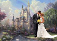 Happily Ever After...  Background by Thomas Kinkade ©YasminSimpsonPhotography