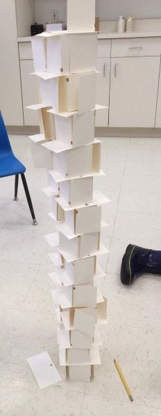Genius STEM challenge for kids! Build an index card tower. How high can you make it?