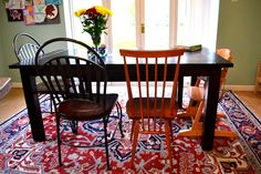 Vintage Ercol Windsor kitchen/dining chair in dining room, home decor, vintage 1950s 1960s.
