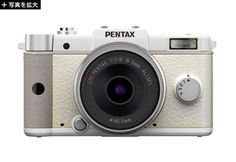 pentax Q: pocket-sized with interchangeable lenses. also in black.