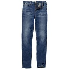 Fat Face Slim Denim Jeans (£50) ❤ liked on Polyvore featuring jeans, stretch skinny jeans, blue ripped jeans, blue ripped skinny jeans, super skinny jeans and blue jeans