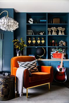 13 Best Blue and orange living room images | Blue, orange ...