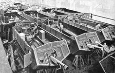 St. Chamond tank at assembly line